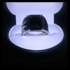 Sterling and onyx mens ring
